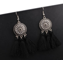 Load image into Gallery viewer, Arealook Bohemian Hollow Tassel Earrings Retro Creative Alloy Earrings
