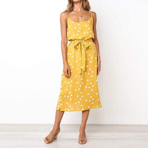 Sexy Loose Wave Point Sling Dress