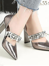 Load image into Gallery viewer, Sexy Pointed High Heels Rhinestone Sequins Female