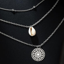 Load image into Gallery viewer, Bohemian Shell Hollow Round Bead Combination Multi-Layer Necklace
