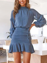 Load image into Gallery viewer, Long Sleeve Printed Mini Dress