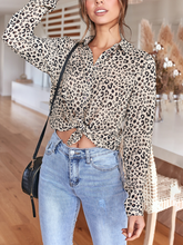 Load image into Gallery viewer, Leopard-Print Loose Versatile Shirt Top