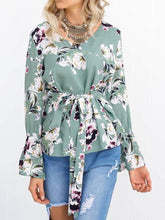 Load image into Gallery viewer, Fasshion Floral Printed Belt Shirt
