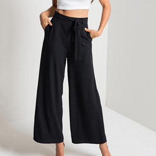 Middle-Waist Wide-Leg Sexy Pants