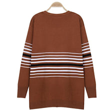 Load image into Gallery viewer, Fashion Casual Striped Knit Sweaters Cardigan
