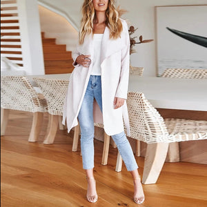 Casual Solid Color Lace Cardigan