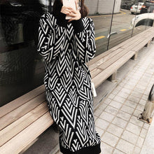 Load image into Gallery viewer, Casual Medium Length Knitted Warm Casual Dress