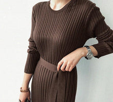Load image into Gallery viewer, Casual Simple Fashionable Knitted Maxi Dress