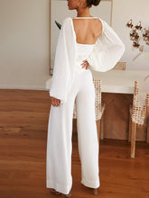 Load image into Gallery viewer, Square Collar Open Back Design Loose Suit
