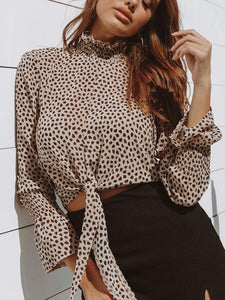 Fashion Print Long Sleeve   T-Shirt Top(Video)