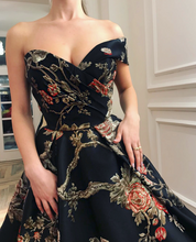 Load image into Gallery viewer, Sexy Off Shoulder Floral Printed Maxi Dress