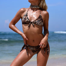 Load image into Gallery viewer, Leopard Print Sexy Strappy Bikini