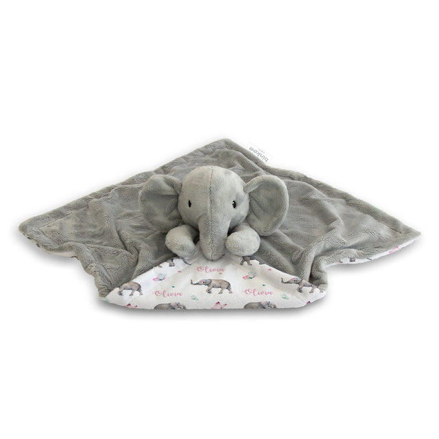 personalised baby name blanket swaddle gift baby shower spring elephant girl floral butterfly fast turnaround afterpay