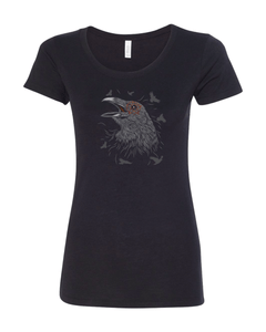 Womens Crow Tee - 1234Clothing