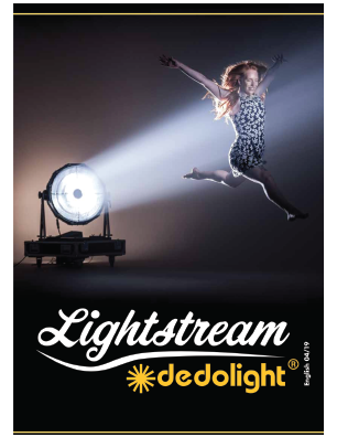 Dedolight Lightstream lighting reflection system booklet shows the concept, data and equipment developed for using the Lightstream system