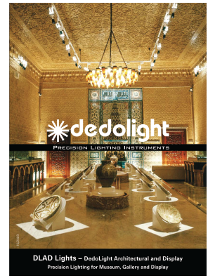 Dedolight Museum brochure - asymmetric focusing light heads and architectural - archival models