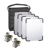 Lightstream 12x15cm Reflector Starter Kit - #1-4 Reflectors with Protective Case and 2 Mounting Brackets - (0CA122-W)