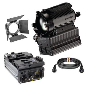 200w Single Light Set - DLH200DT Focusing HMI Light with V-Mount DC Ballast - (0CA200HOLLYV-W)