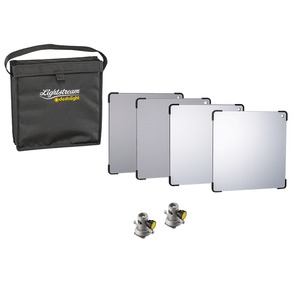 Lightstream 25cm Reflector Starter Kit - #1-4 Reflectors with Protective Case and 2 Mounting Brackets - (0CA252-W)
