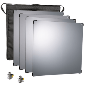 Lightstream 50cm Reflector Starter Kit - #1-4 Reflectors with Protective Case and 2 Mounting Brackets - (0CA502-W)