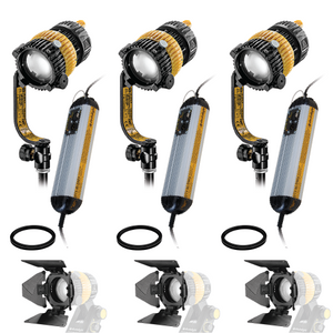 3-Light Kit - 40w Bi-Color DLED3-BI Turbo Focusing LED Lights with DMX Ballasts - (0CADLED3-BI-TRIO-DMX)