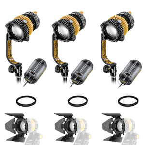 3-Light Kit - 40w Bi-Color DLED3-BI Turbo Focusing LED Lights with AC/DC Ballasts - (0CADLED3-BI-TRIO-DC)
