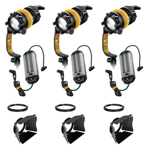 3-Light Kit - 90w Bi-Color DLED7-BI Turbo Focusing LED Lights with DC Ballasts - (0CADLED7-BI-TRIO-DC-W)