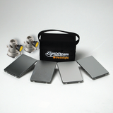 Lightstream 7x10cm Reflector Starter Kit - #1-4 Reflectors with Protective Case and 2 Mounting Brackets - (0CA72-W)