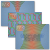 Brokeh F-Series 3 Pack - FEF, FAK, FEK Patterns on Transparency