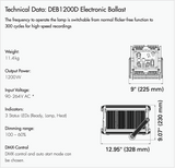 1200w, DLH1200 Focusing HMI Light Set, 5600k - (SETDLH1200D-W)