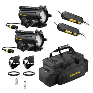 DLH4 - Double Light Kit - 12v/24v, 150w max, Tungsten Halogen Focusing Light Kit