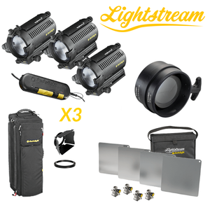 DLH4 - Triple Light Set & 25cm Lightstream Kit