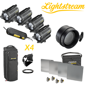 DLH4 - Quad Light Set & 25cm Lightstream Kit