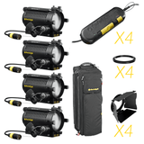 DLH4 - Quad Light Kit - 12v/24v, 150w max, Tungsten Halogen Focusing Light Kit