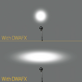 "DWAFXS - Directional Beam Spreader Filter for ""S"" Size Lights"