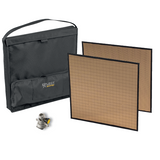 "Large Gold Eflect Reflector Kit - 2, 18"" x 18"" Gold Reflectors with case and Mounting Bracket - (0CAEF-LG2-W)"