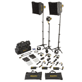 """Micro"" Master Kit, 3x 40w Bi-Color DLED3-BI Turbo LED Focusing Lights, with DP1S Projector - (SLT3-3-BI-S)"