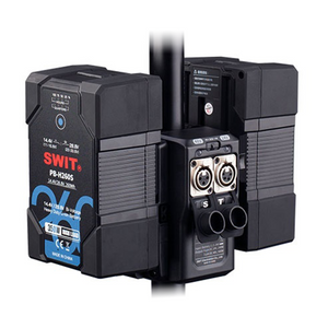 SWIT Tri-Power DC Kit with TD-R210S 16/24/48V Light Stand Power Adapter and 2x PB-H290S V-lock Batteries