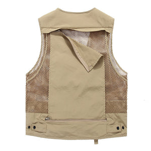 Outdoor Fishing Climbing Photography Loose Multi Poctets Vest