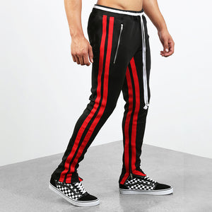 Men's Casual Sweatpants Fashion Feet Side Zipper Sports Pants
