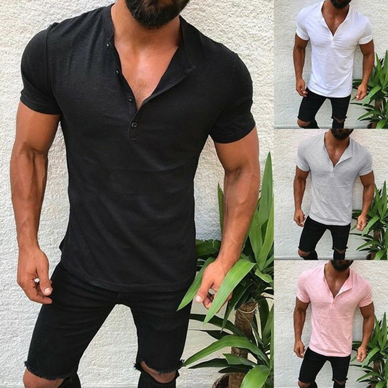 Men's Casual Basic Loose Bamboo Cotton T-Shirt