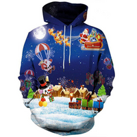 Christmas 3D Printed Hooded Sweatshirt
