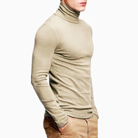 Turtleneck Long Sleeve Solid T-Shirts