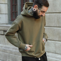 New Men's Spring Solid Color Hooded Sweatshirt