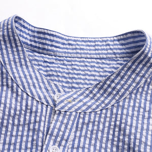 Plus Size S-5XL Men's Loose Casual Striped Breathable T-shirts