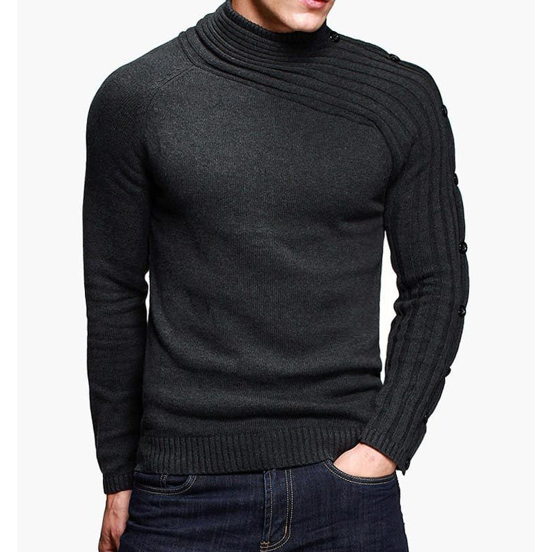 Asymmetric Men's Knitting Pullovers Sweater