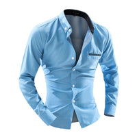 Turn-down Collar Business Work Wear Men's Shirts