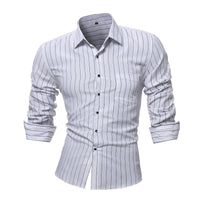 Striped Long Sleeve Men's Business Formal Shirts