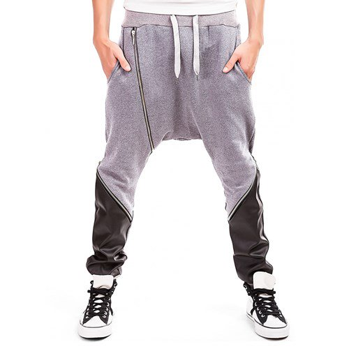 Black Aparat Aluminum Alloy Evening Casual Pant