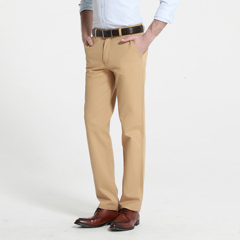 Cotton Straight Leg Business Pants